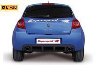 _Supersprint Sportauspuff Racinganlage (rechts-links) 80 mm ab Kat. - Renault Clio III 2.0i RS Bj. 06-09