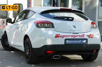 Supersprint Sportauspuff Racing-Komplettanlage links 145x70mm inkl. Downpipe - Renault Megane III 1.4 TCe ab Bj. 2010
