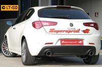 Supersprint Racinganlage rechts-links 100 rund ab Kat. - Alfa Romeo Giulietta 1.4 Turbo ab Bj. 10