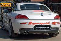 _Supersprint Racinganlage links 2x 80 rund inkl. Downpipe - BMW Z4 E89 28i ab Bj. 11