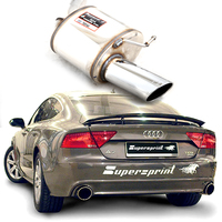 Supersprint Endschalldämpfer links 100mm Audi A7 Quattro 2.8 FSI/3.0 TFSI+A6 4G inkl. Quattro 2.8 FSI/3.0 TFSI