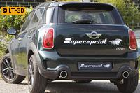 Supersprint Komplettanlage rechts-links 100mm inkl. Metall-Kat. - Mini Cooper S Countryman Frontantrieb 1.6i ab Bj. 10