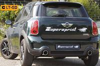 Supersprint Racing-Komplettanlage rechts-links 100mm inkl. Downpipe - Mini Cooper S Countryman Frontantrieb 1.6i ab Bj. 10