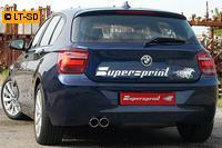 Supersprint Sportauspuffanlage links 2x80 rund ab Serien-Kat. - BMW F20 125i 2.0T ab Bj. 12
