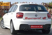 Supersprint Sportauspuffanlage rechts-links je 2x80 rund - BMW F20 125i 2.0T ab Bj. 12