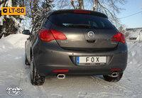 _FOX RACING Komplettanlage ab Kat Opel Astra J Lim. 1.4l Turbo ab Bj. 09 - rechts links je 1 x 135x80mm flachoval (RohrØ 63.5mm)
