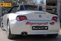 Supersprint Sportauspuff Endschalldämpfer 2x80 Power Loop - BMW Z4 E85 Roadster 2.0i Bj. 05-09