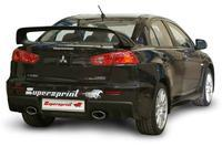 Supersprint Sportauspuff Komplettanlage rechts-links 145x95 oval inkl. Metall-Kat. - Mitsubishi Lancer EVO 10 2.0i Turbo ab Bj. 08