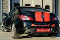 Supersprint Sportauspuffanlage rechts-links für Serien-Endrohre Race-Version ab Serien-Kat. - Hyundai Genesis Coupe 2.0i RS Turbo ab Bj. 11