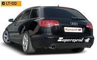 SUPERSPRINT Duplex RACING Komplettanlage Audi A6 C6 4F Quattro 2.4l bis 4.2l rechts links je 100mm