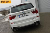 FOX Duplex Komplettanlage ab Kat. BMW X3 F25 35i rechts links je 2 x 90mm