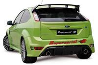 Supersprint Sportauspuff Ford Focus RS 2.5i ab 09 und RS500 2.5i ab 10 - Racing-Komplettanlage mit Metall-Kat. rechts-links 100mm rund