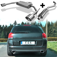 FOX Komplettanlage ab Kat Opel Signum Sportheck 2.0l rechts links je 1x140x90mm oval