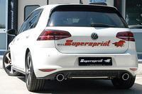 _Supersprint Sportauspuff VW Golf VII GTI Performance ab Bj. 13 - Duplex-Racinganlage rechts links 100 rund