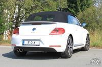 FOX RACING Komplettanlage ab Kat VW Beetle Coupe Cabrio Typ 5C 1.4l  2.0l ab Bj. 11 - 2 x 80mm schräg ohne Absorber (RohrØ 70mm)