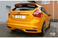 Fox Racing Komplettanlage ab Kat Ford Focus 3 ST Fließheck 2.0l ab Bj. 12 - mittig 2 x 115x85mm oval (RohrØ 63.5mm)