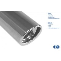 FOX Duplex Sportauspuff Renault Laguna III Coupe rechts links je 1x90mm Absorber