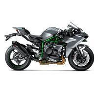 Akrapovic Hexagonal HX2 Schalldämpfer in Carbon mit dB-Eater, VBR in Titan Typ Slip-on Linie für KAWASAKI Ninja H2 Bj. 15