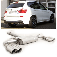 FOX Duplex Sportauspuff BMW X3 F25 xDrive 18i 20i 28i 18d 20d 30d re/li je 2 x 90mm