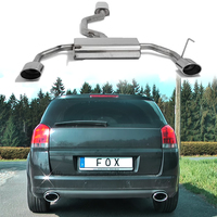 FOX Komplettanlage ab Kat Opel Signum Sportheck 3.2l rechts links je 1x140x90mm oval