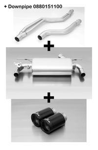 Remus Duplex Racing Anlage inkl. Downpipe BMW 2er Coupé F22 M 240 i / xDrive je 2x98mm Black