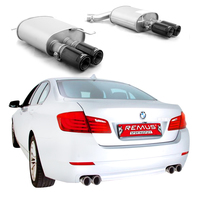 REMUS Duplex Endschalldämpfer Black Chrome 84mm BMW 5er Limousine F10/Touring F11 535i/535i xDrive