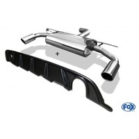 FOX Duplex Sportauspuff VW Golf VII starre Hinterachse Facelift re/li 1x100mm inkl. Heckeinsatz Carbon-Look