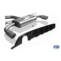 FOX Duplex Sportauspuff VW Golf VII starre Hinterachse Facelift re/li 1x100mm Heckeinsatz Carbon-Look
