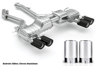 Eisenmann Sportauspuff BMW F87 M2 Competition re/li je 2x 90mm Chrom Aluminium