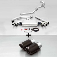 REMUS Racing Klappenanlage inkl. Downpipe Golf VII GTI / GTI Performance Typ AU re/li je 2x84mm Carbon