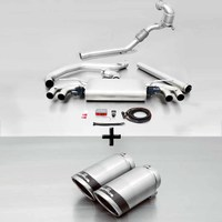 REMUS Racing Klappenanlage inkl. Downpipe Golf VII GTI / GTI Performance Typ AU re/li je 2x84mm Carbon Race