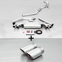 REMUS Racing Klappenanlage  inkl. Downpipe Golf VII GTI Typ AU re/li je 2x84mm verchromt