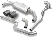 1_REMUS Duplex Racinganlage inkl. Downpipe VW Golf VII 2.0 GTI Facelift+Clubsport je 1x102mm Carbon