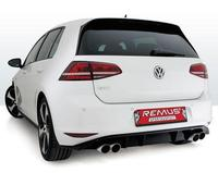 REMUS Duplex Sportauspuff VW Golf 7 Typ AU  rechts links je 2x84mm Street Race Black Chrome