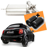 Remus Racing Klappen Sportauspuff Mini Typ F57 F56 Cooper S Facelift 2x98mm Street Race Black
