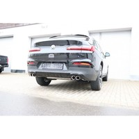 171126_FOX Duplex Sportauspuff BMW X4 G02 20i rechts links je 2x90mm Absorber