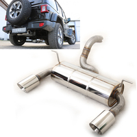 FOX Duplex Sportauspuff Jeep Wrangler IV  JL 2.0l rechts links je 1x100mm