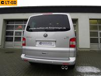 FOX Komplettanlage ab Kat. VW Bus T5 T6 4motion 3.2l  2.5l TDI - 2 x 80mm mit Absorber