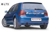 VW Golf 4 R32 SUPERSPRINT Komplettanlage ab Kat rechts links je 1 x 100mm