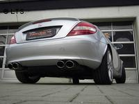 Fox Sportauspuff Mercedes SLK R171 SLK 200  SLK 280  SLK 300  SLK 350 re/li je 2 x 115x85mm oval (RohrØ 50mm)