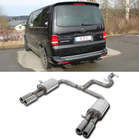 FOX RACING Komplettanlage ab Kat. VW Bus T5/T6 ab Bj. 05 u. Facelift ab Bj. 09  2.0l  3.2l  1.9l TDI  2.0l TDI  2.5l TDI  rechts  links je 2 x 80mm mit Absorber