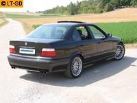 EISENMANN Sportauspuff Duplex Endschalldämpfer Edelstahl BMW E36 Limousine Coupe Cabrio Touring 318i - rechts links je 2 x 70mm gerade poliert hartverchromt - RACE-Version