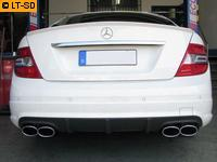 EISENMANN Duplex Sportauspuffanlage Mercedes Benz C-Klasse W204 S204 C230  C280  C300  C350 re/li je 2 x120x77mm RACE-Version