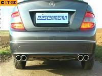 EISENMANN Duplex Sportauspuffanlage RACE Version Mercedes Benz C-Klasse W204 S204 C230  C280  C300  C350 re/li je 2 x 90x70mm