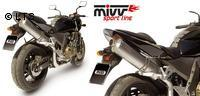 Mivv Sport-Line Oval High Up Titan Schalldämpfer Slip on für KAWASAKI Z 750 Bj. 04-06