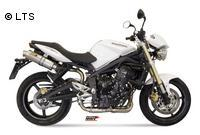 Mivv Sport-Line GP High Up Titan Endschalldämpfer Slip on für TRIUMPH STREET TRIPLE 675 ab Bj. 07
