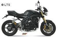 Mivv Sport-Line GP Low Down Carbon Endschalldämpfer Slip on für TRIUMPH SPEED TRIPLE 1050 Bj. 05-06