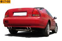 FOX Sportauspuff Honda Prelude 4 Typ BB2  BB3 Bj. 92-96 2.0l  2.3l - rechts links je 2 x 90mm Racing Look
