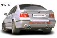 _Supersprint Duplex-Racinganlage je 2x90mm inkl. Metall-Kat. - BMW E39 M5 5.0 (LHD) Bj. 98-04