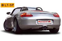 Supersprint Duplex Racinganlageanlage Race 90mm Porsche Boxster Typ 986 2.5i bis Bj. 99